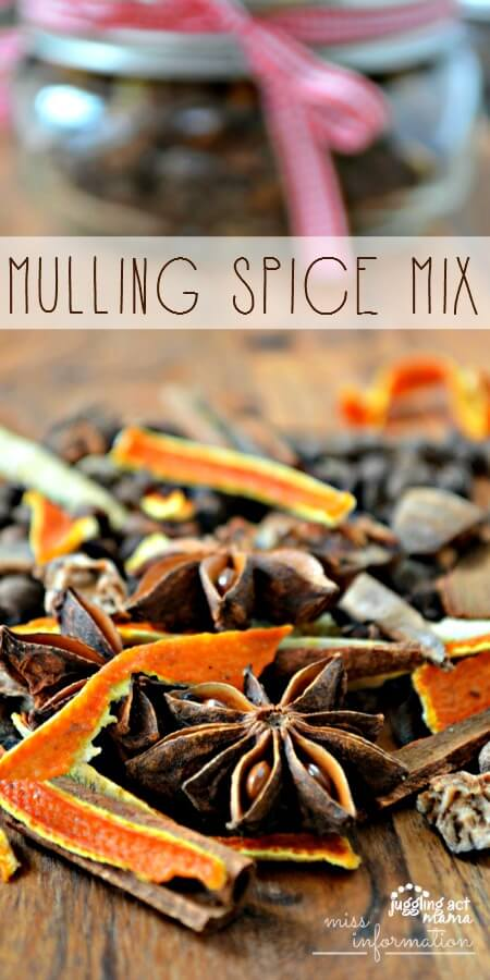Make this homemade mulling spice mix recipe for a warm and cozy drink or to make your house smell amazing over the holidays. I'm making it as gifts this year