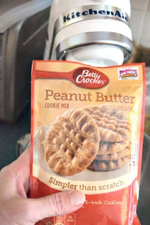 Make amazing chocolate peanut butter truffles with Betty Crocker Peanut Butter Cookie Mix! No one will know it was so easy!