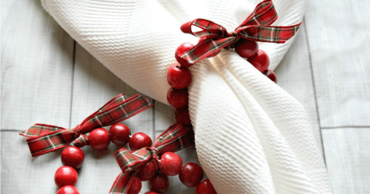 Cranberry Wreath Diy Napkin Rings Miss Information
