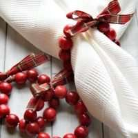 Cranberry Wreath DIY Napkin Rings