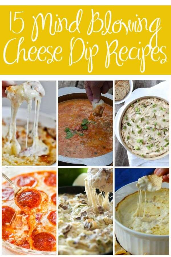 15 cheese dip recipes that will blow your mind! They are perfect game day appetizer recipes or holiday appetizers everyone will love!