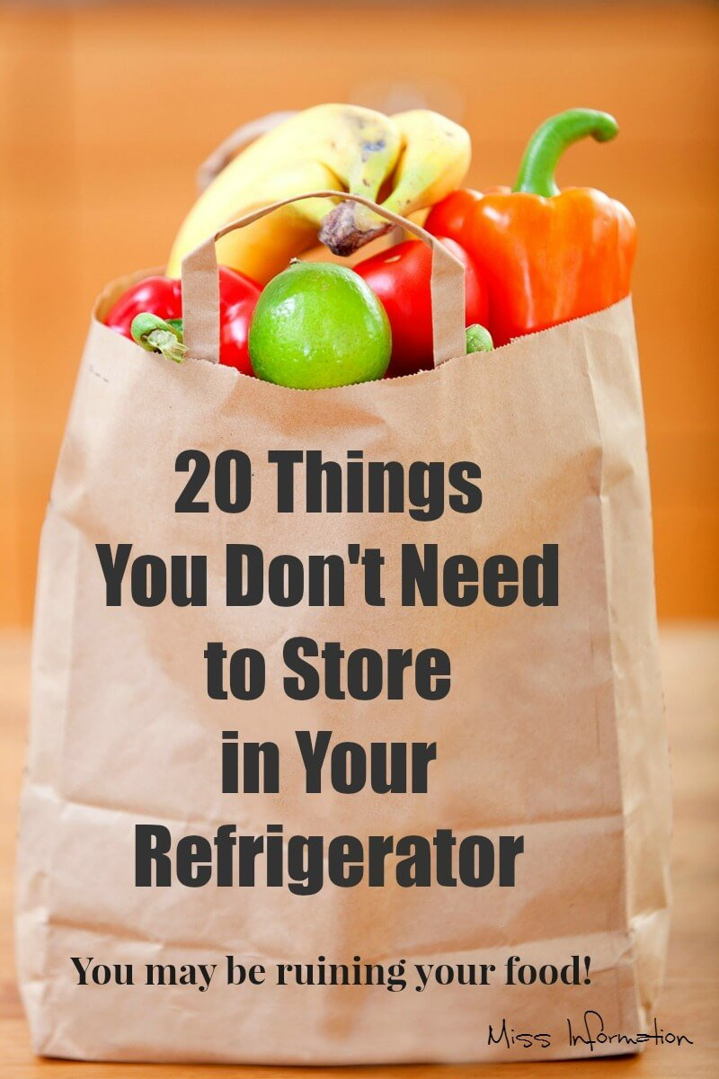 20 Things You Donu0027t Need To Store In Your Refrigerator That You May Be
