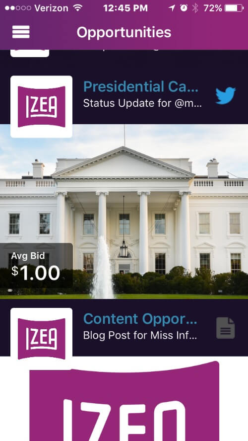 Get sponsored blog content on the go with the new IZEA app! IZEA is a best blog platform for sponsored tweets and PayPerPost content