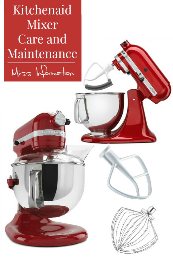 This Kitchenaid mixer care and maintenance tips will fix any small problems you might be having and make your mixer last foreverincluding how to fix a wire whip that has turned black