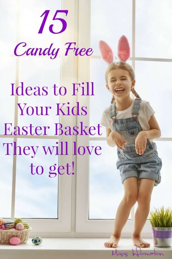 If you're not a fan of filling your kids Easter basket with candy here are 15 non-candy Easter basket ideas that every kid will love to get.