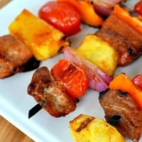 Asian Pork Kabobs are healthier than steak and the ginger soy marinade is amazing. These are the perfect grill recipe!
