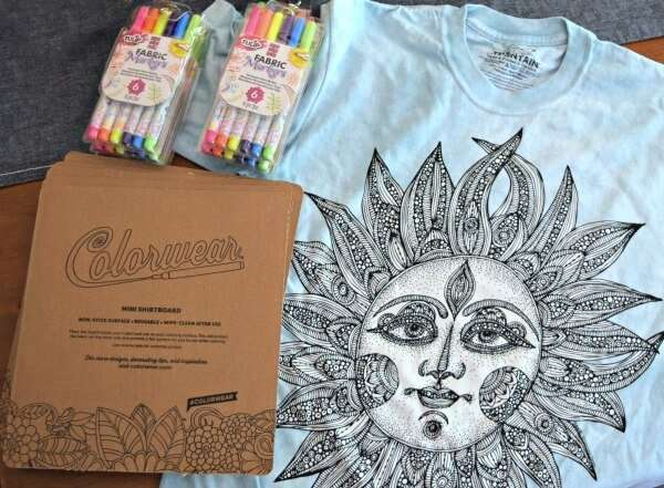 Coming up with easy craft night ideas for adults is no longer a challenge with these fun coloring book T-shirts and a few colorful treats!