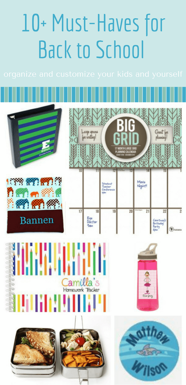 A list of the perfect back to school must haves this year. Here is a list that will keep you and the family on track, in style and organized for the next school year.