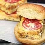 Oven Baked Frittata Breakfast Sandwiches