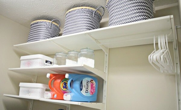 Renovate your laundry room and make it work for you instead of making do with inexpensive shelving from Ikea