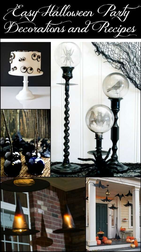 black and white halloween decorations and recipes will make your party stand out from all the