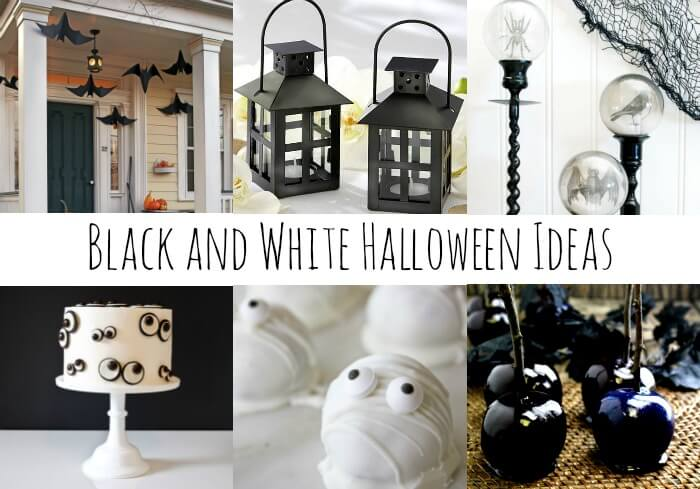 black and white halloween decorations miss information