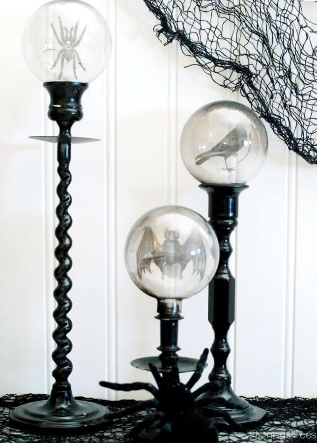 black and white halloween decorations will make your party stand out from all the rest with