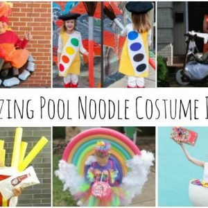 Use inexpensive pool noodles for some of the most original Halloween Costume DIY ideas ever