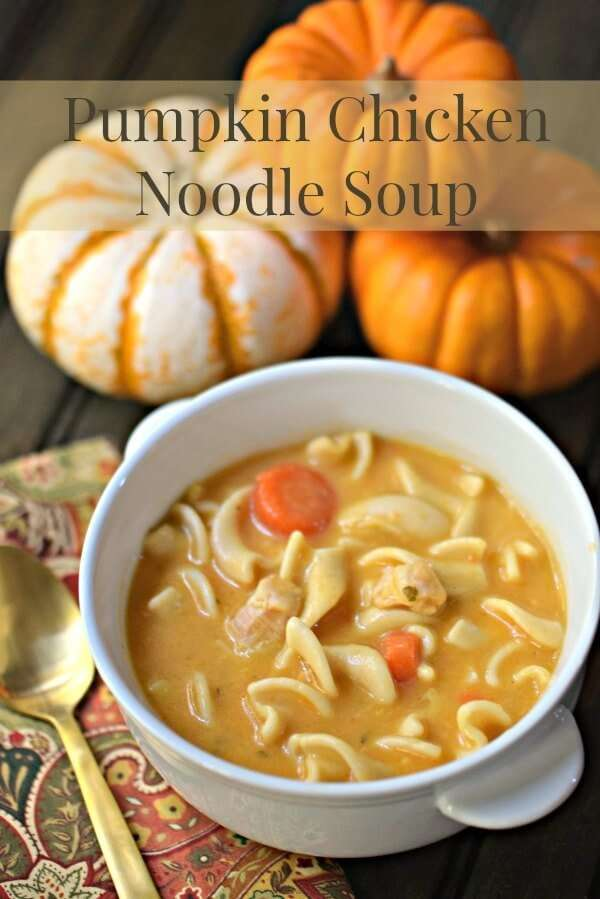 This pumpkin soup recipe is like no other you've tried. Pump up your chicken noodle soup by adding pumpkin, cream and cheddar cheese It takes less than 10 minutes to make for the perfect fall dinner!