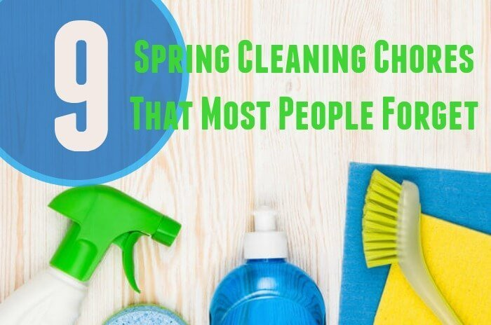 Clean Up! 9 Spring Cleaning Chores Most People Forget
