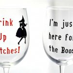 These Halloween wine glasses are perfect to trick or treat with! Made with a Cricut and Vinyl. Gotta Pin these for my friends!