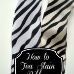 How to Tea Stain Fabric to get a more off white taupe look
