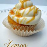 lemon cupcakes with a glaze to keep the cupcake moist for a long time