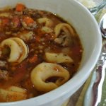 A yummy, hearty Italian tortellini soup recipe, perfect for fall and quick to make! Get the recipe on MissInformationBlog.com
