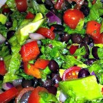 Black bean and avocado salad is fresh and perfect with burgers or BBQ