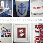 Easy DIY Custom Bathroom Decor with a Cricut