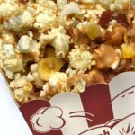 Want a salty and sweet popcorn for your next movie night? Try this gourmet popcorn recipe that is a twist on the Elvis Sandwich!