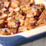 This french toast bake made with eggnog and cranberries is the perfect Christmas breakfast casserole and easy to make the night before