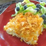 Easy Cheesy Hash Brown Casserole - Perfect for brunch or a side dish at a potluck dinner.