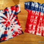 How to make a firework and flag design with Tie Dye