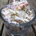 Easy homemade old fashioned cole slaw recipe perfect for picnics and the 4th of July