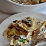 Ravioli Bianca Bake takes 10 minutes to throw together and only 30 minutes to bake, it