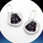 How to DIY Shrinky Dinks and Make these Great Star Wars Darth Vader Earrings